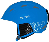 Зимний Шлем BLIZZARD Viva Demon ski helmet, blue matt/white flowers
