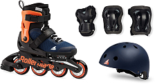 Роликовые коньки Rollerblade 2020 Cube Midnight Blue/Warm Orange