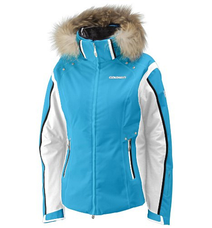 Куртка горнолыжная GOLDWIN 2012-13 LADIES JACKET LT LIGHT TURQUOISE/LIME/WHITE Голубой