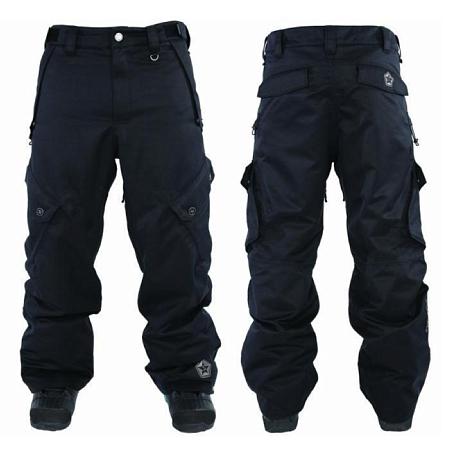 Купить Брюки сноубордические SESSIONS 2011-12 Gridlock Pant 01A Black, Одежда сноубордическая, 745107