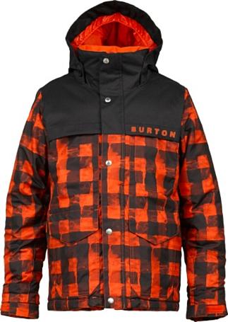 Купить Куртка сноубордическая BURTON 2013-14 BOYS TITAN JK BURNER BUFFALO PLAID Детская одежда 1021726