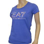 Футболка Для Активного Отдыха Ea7 Emporio Armani 2016 Woman's Knit Jersey Blu Accecante