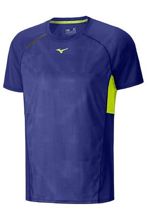 Купить Футболка беговая Mizuno 2016 Premium Origami Tee синий, Одежда для бега и фитнеса, 1264803