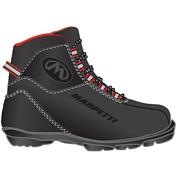 Лыжные ботинкиЛыжные ботинки<br>Прогулочные ботинки для беговых лыж.<br>Любительские ботинки из натуральной кожи. Удобная колодка, утеплитель из искусственного меха. <br>