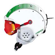 Зимний ШлемШлемы для горных лыж/сноубордов<br>В этом шлеме воплощены очень смелые дизайнерские решения на любой вкус, так же и новейшие разработки Casco в области вентиляции- система Fresh Air. <br>Где бы вы Вы не катались, максимальный уровень&amp;nbsp;&amp;nbsp;защиты и веселья гарантирован.<br>МАСКА В КОМПЛЕКТ НЕ ВХОДИТ. Приобретается отдельно<br>Размеры:<br>52-54 cm = S<br>54-58 cm = M <br>58-62 cm = L