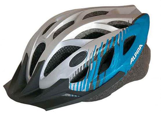 Купить Летний шлем Alpina SMU SOMO Tour 3 silver-blue, Шлемы велосипедные, 1180271