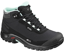Ботинки городские (высокие) SALOMON Shelter CS WP W Black/Black/Eggshell Blue