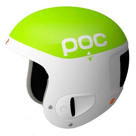 Купить Зимний Шлем Poc Skull Comp 2.0 Green white Шлемы для горных лыж/сноубордов 1242354