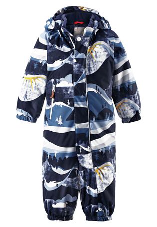 Купить Комбинезон горнолыжный Reima 2017-18 Puhuri Navy Детская одежда 1358841