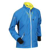 Куртка беговая Bjorn Daehlie Jacket AMBITION PRO Women Methyl Blue/Snow White (синий/белый)