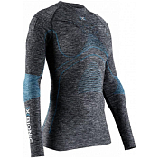 Футболка с длинным рукавом X-Bionic 2019-20 Energy Accumulator 4.0 Melange Shirt Round Neck Lg Sl Wmn Dark Grey Melange/Water Green