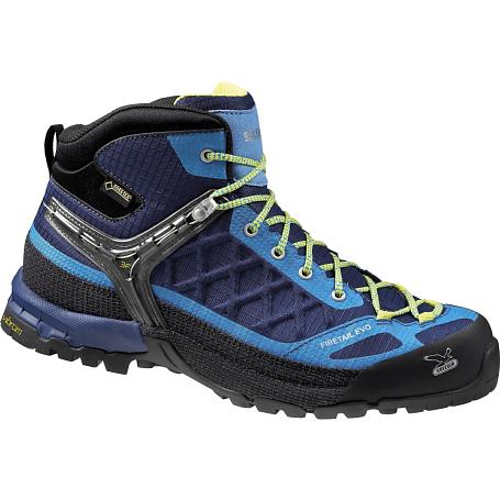 Купить Ботинки для треккинга (высокие) Salewa Tech Approach MS FIRETAIL EVO MID GTX Deep Blue/Davos Треккинговая обувь 1090318
