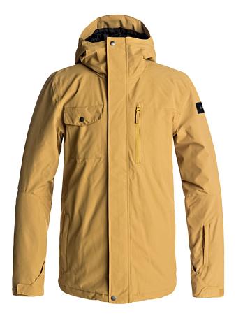 Купить Куртка сноубордическая Quiksilver 2017-18 MISSION SOL JK M SNJT YLM0 MUSTARD GOLD Одежда 1361165