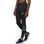 Брюки беговые Asics 2019-20 Silver Icon Tight Performance Black/Deep sapphire