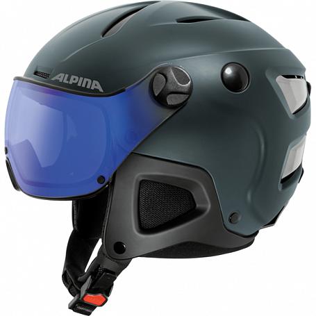 Купить Зимний Шлем Alpina ATTELAS Visor VHM nightblue matt, Шлемы для горных лыж/сноубордов, 1314490