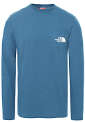 Футболка горнолыжная The North Face 2020-21 l/s tissaack tee Mallard blue