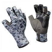 Перчатки рыболовныеПерчатки, варежки<br>Технологичные рыболовные перчатки с креативным дизайном. <br>Прекрасно облегают кисть, защищают от проникновения влаги и физических повреждений кожи. <br>Ладонь перчатки не скользит с прикосновением к мокрой поверхности. Фактор защиты от солнца - UPF50+. <br>Состав: ладонь - 60% нейлон, 40% полиуретан; <br>верх - 100% полиэстер; <br>манжета - 82% нейлон, 18% полиуретан, трикотаж/полиуретан<br><br>Пол: Унисекс<br>Возраст: Взрослый<br>Вид: перчатки