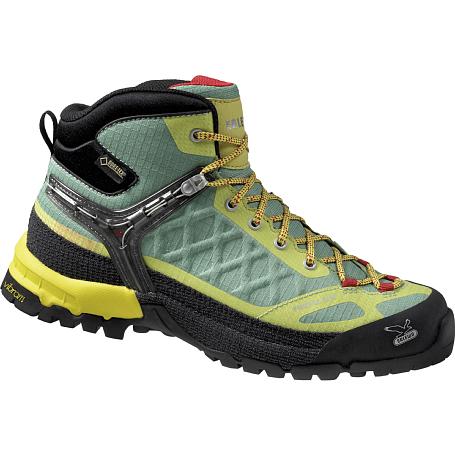 Купить Ботинки для треккинга (высокие) Salewa Tech Approach WS FIRETAIL EVO MID GTX Pistache/Spring Треккинговая обувь 1090361