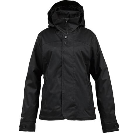 Купить Куртка сноубордическая BURTON 2013-14 WB JET SET JK HEATHERED TRUE BLACK Одежда 1077883