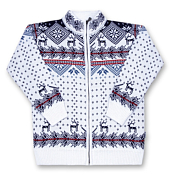 Свитер для активного отдыхаОдежда для активного отдыха<br>Детский шерстяной свитер на молнии.<br>Состав: 50% шерсть, 50% акрил.<br>