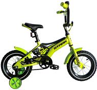 ВелосипедДо 6 лет (колеса 12-18)<br>Велосипед для детей ростом от 85 до 100 см<br> <br> <br> Особенности:<br> <br> - легкая алюминиевая рама<br> - мягкие накладки на раме и руле, цепь закрыта<br> - боковые колеса, звонок и крылья в комплекте<br> <br> Технические характеристики:<br> <br> Рама: AL 6061 Kids<br> Размер рамы: one size<br> Тип вилки: жесткая<br> Диаметр колес: 12<br> Тип тормозов: ножной педальный<br> Кассета: Кассета 16T<br> Покрышки: Wanda 12х2,125<br> <br> <br> Рекомендуемые аксессуары: