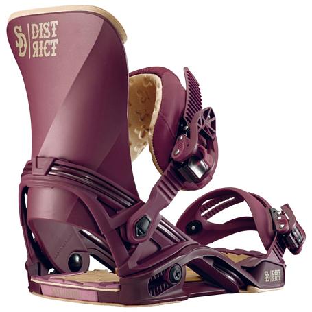 Купить Сноуборд крепления SALOMON 2016-17 BOARD BIND. DISTRICT BURGUNDY 1287439