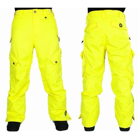 Купить Брюки сноубордические SESSIONS 2011-12 Gridlock Pant 01Y Yellow Одежда сноубордическая 745112