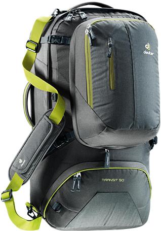 Рюкзак Deuter Transit 50 Anthracite/Moss - купить в КАНТе