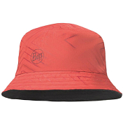 Панама BUFF Travel Bucket Hat Collage Red-Black