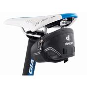 Сумка под седлоВелосумки<br>Миниатюрная подседельная сумка для вело-минималистов – идеальный выбор для установки на Ваш гоночный велосипед. Сумка обшита светоотражающими деталями. Чтобы быть более заметным, можно прикрепить к петле фонарик безопасности.&amp;nbsp;&amp;nbsp;В сумку можно уложить запасную камеру, ключи, мелкие вещи и, при необходимости, сумку можно сжать и сделать еще меньше. Быстрое и надежное крепление к седлу с помощью застежек Velcro. Прочную легкую ткань легко очистить от грязи.Вес: 45 гРазмеры: 6х7.5х13 смОбъем: 0.3 л