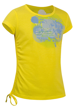 Футболка для активного отдыха Salewa Kids SAMMY CO GIRL TEE salewa yellow12-0643