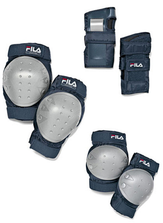 Купить Комплект защиты FILA Детская защита 3 пр Fitness Junior Pad Set Защита 741008