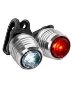 Фонари (комплект)Фары и фонари<br>Велосипедные фонари (набор)<br> <br> <br> Велосипедный фонарь R-3<br> <br> - индикатор низкого заряда батареи<br> - водонепроницаем<br> - вес 32 гр<br> - зарядка от usb<br> - 3 Lumen<br> - максимальное время работы -от 3 до 26 часов в зависимости от режима<br> - дальность света - 5 м<br> - режимы - низкая яркость, высокая яркость, вспышка<br> <br> Велосипедный фонарь F-14&amp;nbsp;<br> <br> - индикатор низкого заряда батареи<br> - водонепроницаем<br> - вес 32 гр<br> - зарядка от usb<br> - 14 Lumen<br> - максимальное время работы - от 4 до 30 часов в зависимости от режима<br> - дальность света - 9 м<br> - несколько режимов работы