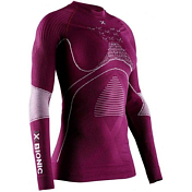 Футболка с длинным рукавом X-Bionic 2019-20 Energy Accumulator 4.0 Shirt Round Neck Lg Sl Wmn Plum/Pearl Grey