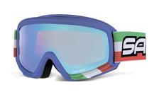 Очки горнолыжныеОчки горнолыжные<br>Маска для детей и подростков 9-14-ти лет. <br>Эта модификация имеет двойные фотохромные линзы-хамелеоны и цветную декорированную оправу. <br>Яркий, агрессивный дизайн, бархатная внутренняя поверхность маски, антифог и совместимость со шлемами.<br>