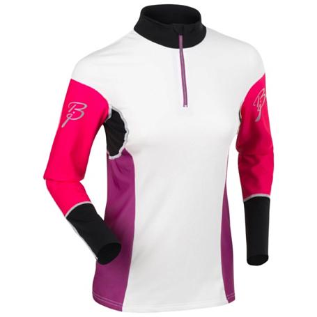 Купить Футболка с длинным рукавом беговая Bjorn Daehlie JACKET/PANTS Top NEW FINNMARK Women Snow White/Knockout Pink (Белый/розовый) Одежда для бега и фитнеса 1102917