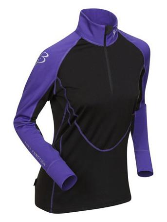 Купить Футболка с длинным рукавом беговая Bjorn Daehlie Top FINNMARK Women Deep Blue/Black (фиолетовый/черный), Одежда лыжная, 776035