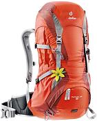 РюкзакРюкзаки универсальные<br>Надежный рюкзак, оснащенный системой спинки Deuter Aircomfort Futura System, а также прочными стальными элементами, незаменим для женщин, которые ведут активный образ жизни.<br> Металлически<br> <br> Особенности: <br> <br> - Система спинки Deuter Aircomfort Futura System. Прочная стальная конструкция, обтянутая специальной сеткой, образует пространство между рюкзаком и спиной, обеспечивая проветривание с 3 сторон. Мягкая поясничная прокладка улучшает посадку рюкзака и распределение нагрузки <br> - Спина из дышащей натяжной сетки <br> - Регулируемая грудная стяжка <br> - Регулируемый набедренный пояс с застёжкой Pull-Forward <br> - Эргономичные плечевые лямки с мягкими краями <br> - Компрессионные ремни <br> - Фиксатор из эластичного корда для крепления вещей снаружи <br> - Петли для ледоруба и дополнительного снаряжения <br> - Нижнее отделение со съемной разделительной перегородкой <br> - Совместим с питьевой системой на 3 литра <br> - Регулирующийся по высоте клапан с наружным и внутренним карманом <br> - Внутренний карман для ценных вещей <br> - Отделение для мокрой одежды <br> - Передний карман <br> - 2 эластичных боковых кармана <br> - Чехол от дождя <br> - Маленький поясной карман <br> - Табличка со знаками SOS <br> Вес: 1490 г <br> Объем: 24 л <br> Размер: 62/28/18 (В х Ш х Г) см <br>Материал: Deuter-Super-Политекс Макро Lite 210