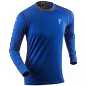 Футболка с длинным рукавом Bjorn Daehlie UNDERWEAR Shirt WARM LS Surf The Web/Periscope (синий/серый)