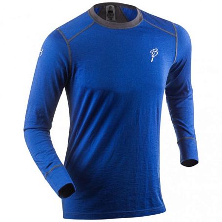 Купить Футболка с длинным рукавом Bjorn Daehlie UNDERWEAR Shirt WARM LS Surf The Web/Periscope (синий/серый) Термобелье 1125228