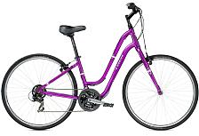ВелосипедКомфортная посадка<br>Женский комфортный велосипед Trek Verve 1 WSD 2016. Установлены вилка High-tensile steel w/straight blades, а также начальное оборудование. Trek Verve 1 WSD 2016 станет прекрасным подарком для каждой поклонницы активного отдыха!<br> <br> Рама и амортизаторы<br> <br> Рама: Alpha Gold Aluminum<br> Вилка: High-tensile steel w/straight blades<br> <br> Цепная передача<br> <br> Манетки: SRAM MRX, 7 speed twist<br> Передний переключатель: Shimano Tourney<br> Задний переключатель: Shimano Tourney<br> Шатуны: Forged alloy, 48/38/28 w/chainguard<br> Кассета: SunRace Freewheel 14-34, 7 speed<br> Педали: Wellgo nylon platform<br> <br> Колеса<br> <br> Обода: Formula FM21 alloy front hub; Formula FM 31 alloy rear hub w/Bontrager AT-550 36-hole alloy rims<br> Покрышка: Bontrager H5, 700x35c<br> <br> Компоненты<br> <br> Передний тормоз: Tektro alloy linear-pull brakes w/Tektro adjustable-reach alloy levers<br> Задний тормоз: Tektro alloy linear-pull brakes w/Tektro adjustable-reach alloy levers<br> Грипсы: Bontrager Satellite<br> Руль: Steel, 50mm rise, 15 degree sweep<br> Вынос: Bontrager Approved, 25.4mm, 25 degree, quill<br> Рулевая колонка: 1-1/8, semi-integrated, semi-cartridge bearings<br> Седло: Bontrager Boulevard WSD<br> Подседельный штырь: Bontrager SSR, 27.2mm, 20mm offset<br><br>Пол: Женский<br>Возраст: Взрослый