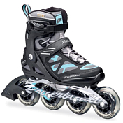 Роликовые коньки Rollerblade 2016 MACROBLADE 90 ST W BLACK/LIGHT BLUE