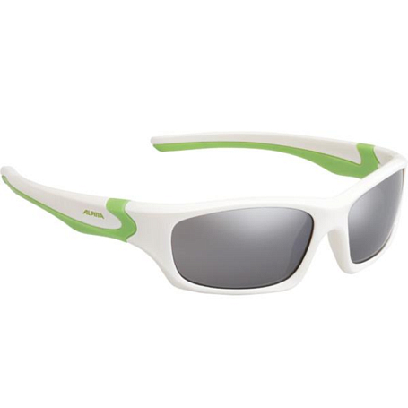 Купить Очки солнцезащитные Alpina JUNIOR / KIDS Flexxy Teen white-green/black mirror S3 1131850