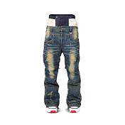 Брюки сноубордическиеОдежда сноубордическая<br>Сноубордические брюки из джинсовой ткани. <br>Мембрана 10К/10К<br>Проклеенные швы, <br>Отстегивающаяся противоснежная юбка<br>Вентиляция<br><br>Пол: Мужской<br>Возраст: Взрослый<br>Вид: брюки