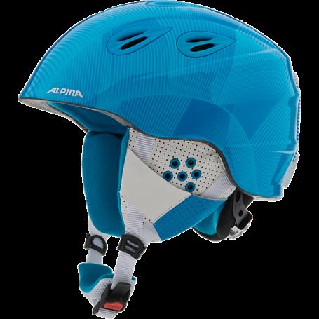 Купить Зимний Шлем Alpina 2015-16 JUNIOR GRAP 2.0 JR blue white Шлемы для горных лыж/сноубордов 1193975