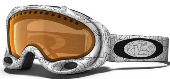 Купить Очки горнолыжные Oakley A-Frame snow wht factory text w/persimmon 773646