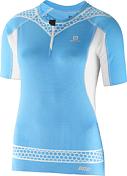 Футболка беговаяОдежда для бега и фитнеса<br>Эта облегающая футболка на молнии обеспечивает контроль осанки в области грудной клетки, а также комфорт и функциональность во время длинных забегов по пересеченной местности.<br><br>Внешний слой:<br>100% Полиуретан<br><br>Вставка:<br>80% Нейлон<br>20% Эластан<br><br>Основная часть:<br>92% Полиэстер<br>8% Эластан<br><br>Пол: Унисекс<br>Возраст: Взрослый