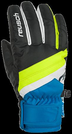 Купить Перчатки горные REUSCH 2017-18 Reusch Dario R-Tex XT Junior black / brilliant blue Перчатки, варежки 1371111