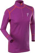 Футболка с Длинным Рукавом Bjorn Daehlie Underwear Half Zip Warm LS Women Purple Cactus Flower/tangerine Tango (Фуксия/оранжевый)