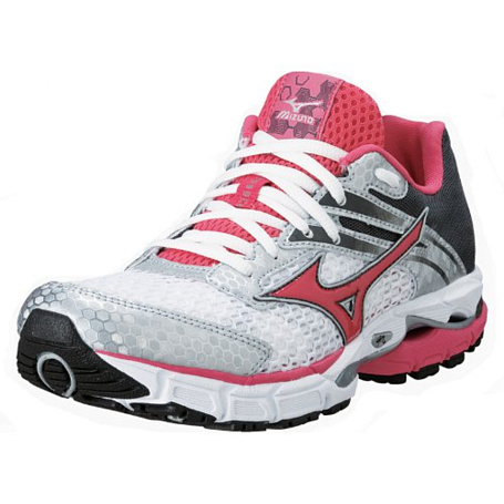Беговые кроссовки элит Mizuno 2013 Wave Inspire 9 Silver/RougeRed/DkShadow